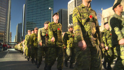 HD2008-10-17-24 military parade Stock Video Footage