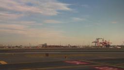 HD2008-9-1-11 int aircraft look at runway aircraft taxis... Stock Video Footage