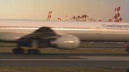 HD2008-9-1-13 int aircraft look at runway aircraft taxis... Stock Video Footage