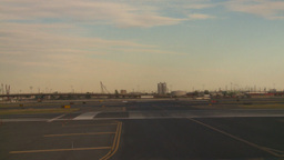 HD2008-9-1-15 int aircraft look at runway aircraft taxis... Stock Video Footage