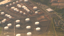 HD2008-9-1-19 aerial industrual new jersey oil storage Stock Video Footage