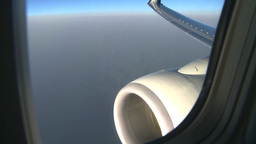 HD2008-9-1-31 aerial cloud sky engine wing Stock Video Footage