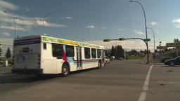 HD2008-9-1-35 gas stn traffic bus Stock Video Footage