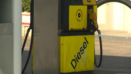 HD2008-9-1-39 gas stn diesel pump Stock Video Footage
