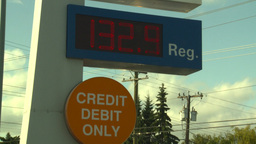 HD2008-9-1-43 gas stn 133 price Z Stock Video Footage