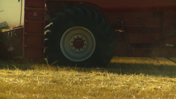 HD2008-9-2-8 combine harvest wheat field Stock Video Footage