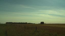 HD2008-9-2-10 combine harvest wheat field Stock Video Footage