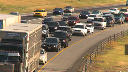 HD2008-9-2-14 Deerfoot traffic bumper to bumper Stock Video Footage