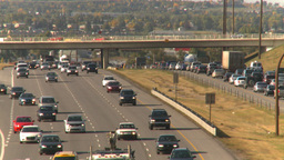 HD2008-9-2-16 Deerfoot traffic bumper to bumper Stock Video Footage