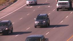 HD2008-9-2-18 TL Deerfoot traffic bumper to bumper Stock Video Footage