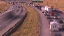 HD2008-9-2-20 TL Deerfoot traffic bumper to bumper Stock Video Footage