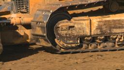 HD2008-9-3-5 caterpillar scraper Stock Video Footage