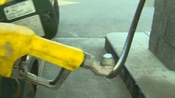 HD2008-9-3-7b diesel fill up gas pump Footage