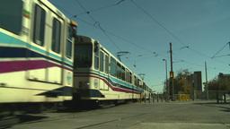 HD2008-9-3-11 LRT trains Stock Video Footage