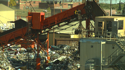 HD2008-9-3-13 metal recycler grapple Stock Video Footage