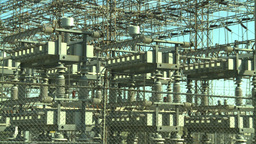 HD2008-9-3-17 electric substation Stock Video Footage