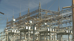 HD2008-9-3-19 electric substation Stock Video Footage