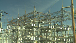 HD2008-9-3-23 electric substation ZZ Stock Video Footage