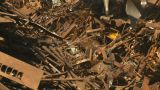 HD2008-9-3-43 Metal Recycler Grapple  stock footage