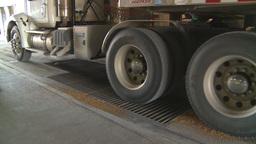HD2008-9-3-55 grain truck Stock Video Footage