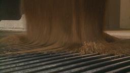 HD2008-9-3-57 grain truck unloading Stock Video Footage