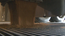 HD2008-9-3-59 grain truck unloading Stock Video Footage