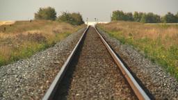 HD2008-9-3-67empty rail tracks Stock Video Footage