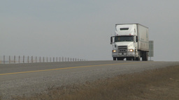 HD2009-4-1-3 semi truck Stock Video Footage