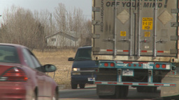 HD2009-4-1-9 semi truck Stock Video Footage