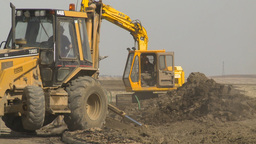 HD2009-4-1-13 backhoe Stock Video Footage