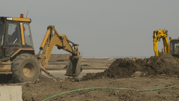 HD2009-4-1-19 backhoe Stock Video Footage