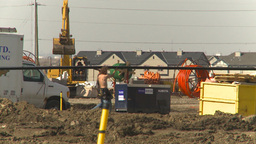 HD2009-4-1-29 construction site Stock Video Footage