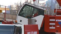 HD2009-4-1-31 condo construction site 120ton crane Stock Video Footage