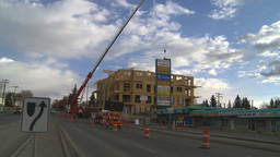 HD2009-4-1-33 condo construction site 120ton crane Stock Video Footage