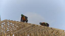 HD2009-4-1-35 condo construction site 120ton crane Stock Video Footage