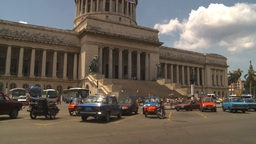 HD2009-4-3-13 Havana traffic capitol Stock Video Footage