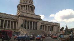 HD2009-4-3-17 Havana traffic capitol Stock Video Footage