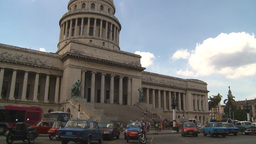 HD2009-4-3-17 Havana traffic capitol Stock Video Footage