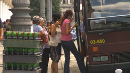 HD2009-4-3-23 Havana traffic Stock Video Footage