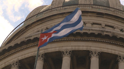 HD2009-4-3-27 Havana flag capitol Stock Video Footage