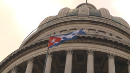 HD2009-4-3-29 Havana flag capitol Stock Video Footage