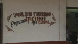 HD2009-4-4-8 Cuba rural sign Stock Video Footage