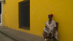 HD2009-4-4-16 Havana old woman and cigar Stock Video Footage
