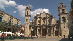 HD2009-4-4-18 Havana Cathedral square Stock Video Footage