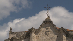 HD2009-4-4-20 Havana Cathedral square cross Stock Video Footage