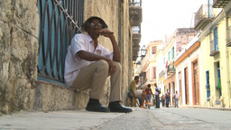 HD2009-4-4-28 Havana old man cigar Footage