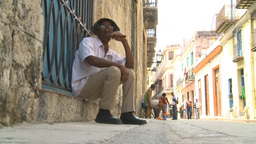 HD2009-4-4-28 Havana old man cigar Stock Video Footage