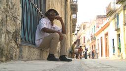 HD2009-4-4-28 Havana old man cigar Stock Video Footage