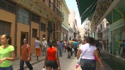 HD2009-4-4-60 Havana street Stock Video Footage