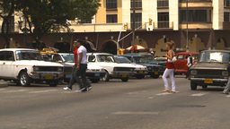 HD2009-4-4-88 Havana traffic Stock Video Footage